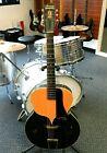 Vintage 1950's Harmony Catalina H1220 Black / Peach 2-Tone Archtop! NO RESERVE!