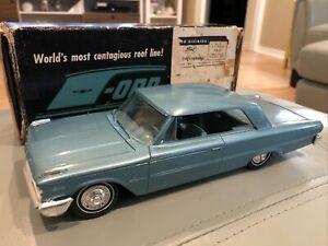 RARE MING GREEN 1963 Ford Galaxie Hardtop Dealer Promo Model +Original Box MINT