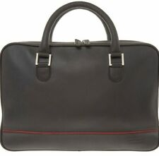 JAGUAR F-TYPE BLACK LEATHER WORKBAG MESSENGER BAG BRIEFCASE CASE - NEW & TAGS