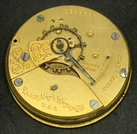Elgin Grade 309 Pocket Watch Movement Model 4 Hunter 18s 7j parts F5437