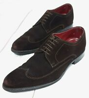 ⭐ Mens Loake Victor Suede brown leather brogues lace up shoes size UK 7 EU 41