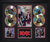 AC DC SIGNED MEMORABILIA FRAMED 4 CD LIMITED EDITION