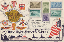 US 1946 END OF WORLD WAR TWO ILLUSTRATED PATRIOTIC COVER 'THEY HAVE SERVED WELL'