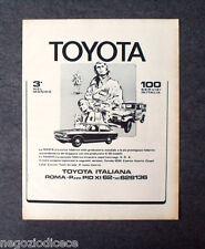 P179 - Advertising Pubblicità -1972- TOYOTA , 3° NEL MONDO,100 SERVIZI IN ITALIA