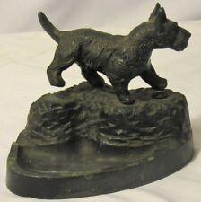 Vintage Rare Pal Cast Metal Scottie Scottish Terrier Wobble Peeing Dog Ashtray