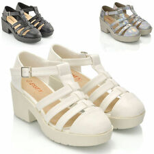 Block Synthetic Leather Casual Gladiators for Women