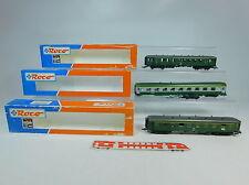 AU689-1# 3x Roco H0/DC Bastler-Personenwagen: 44550+44554 DB+44608 SNCF NEM, OVP