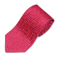 CHARVET Magenta Purple Checkerboard Diamond Men's Silk Neck Tie