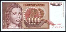 1992 YUGOSLAVIA 10000 DINARA BANKNOTE * AE 9306547 * EF+ * P-116 *