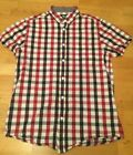 Cedar Wood State short sleeved red check shirt. Size S