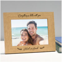 Gifts for Her Him PERSONALISED Photo Frame for Couples Girlfriend ANY Two Names