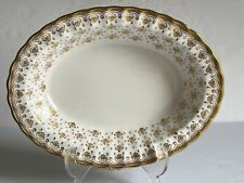 FLEUR DE LYS Gold SPODE Bone China OVAL VEGETABLE BOLW Gold Trim MINT 2 of 2