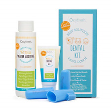 Oxyfresh Premium Pet Dental Kit from Fight Bad Breath in Dogs & Cats - Easy Safe