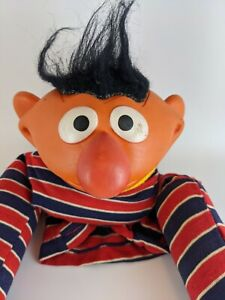 Vintage 1970's Muppets Inc Sesame Street Ernie Plastic and Fabric Hand Puppet