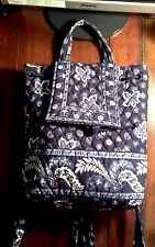 """Vintage Vera Bradley Backpack / Purse """"Blue Coin"""" Excellent Condition - Retired"""