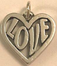 ❤️RETIRED JAMES AVERY ~ FULL OF LOVE HEART CHARM ~ PENDANT ~ RARE ~ w/ JA Box❤️