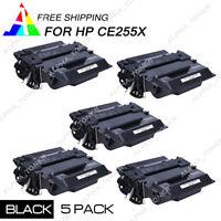 5PK CE255X 55X Toner Cartridge For HP LaserJet Pro 500 MFP M521DN M521DW Printer