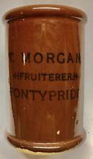 More details for 1905 cream cylinder: glased: transferred t. morgan, fruiterer, pontypridd (g975)