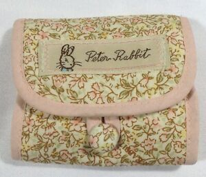 Vtg JHB International Beatrix Potter Peter Rabbit Pink Fabric Sewing Mending Kit