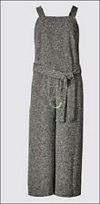 Marks and Spencer Grey Mix Dungaree Pinafore Culottes Size 16