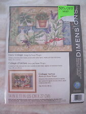 HERB COLLAGE by Susan Winget - Dimensions Stamped Cross Stitch Kit - NIP