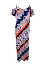 Msk Women's Printed Cold-Shoulder Maxi Dress
