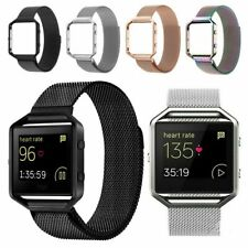 Metal Frame Milanese Loop Stainless Steel Bracelet Strap Band for Fitbit Blaze