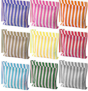 CONFETTI CANDY COLOURED STRIPE PAPER BAGS, SWEET BAGS, CANDY BAGS (5 x 7)