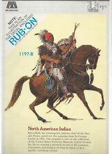 North American Indian  Rub-on Decal  1980   Meyercord