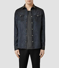 """ALLSAINTS"" MEN'S ""HILLTOP"" DENIM SHIRT SIZE ""XL"" - WITH TAGS ATTACHED!"