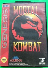 SEGA GENESIS 'MORTAL KOMBAT' GAME AND BOX (NO MANUAL)