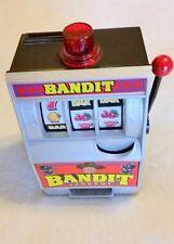 Adorable Las Vegas Bandit Jackpot Slot Machine Bank (not a gaming device).  Fun!