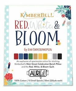 Kimberbell Love Notes Mystery Quilt Thread Set by Aurifil