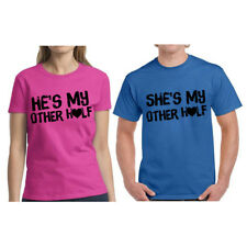 Couple Shirts He's She's My Other Half Cute Couple Shirts Valentines Day Gifts