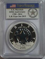 2015 P FIRST STRIKE LB EXPO JAN 2015 US MARSHALS SILVER $1 COIN PCGS PR70
