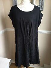 Next Black Smock Shift Dress Size 18 Bnwt Casual Summer