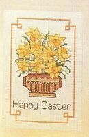 Cross stitch patterns for 2 Easter cards. Embroidery, flowers. Needlecraft. DMC.