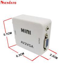 Mini HD AV2VGA Video Converter Convertor Box AV RCA CVBS to VGA Video Converter