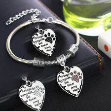 Dog Cat Pet Paw Print No Longer By My Side But Forever In My Heart Bracelet Gift