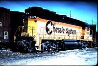 ORIGINAL 35mm SLIDE: C&O Chessie System #4369 Locomotive: Dayton OH  Kodachrome