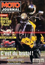 MOTO JOURNAL 1125 SUZUKI RG 125 Gamma YAMAHA TZR HONDA CBR 600 NSR TRIUMPH 900
