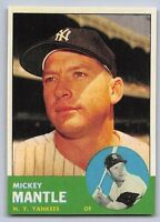 "1963  MICKEY MANTLE - Topps ""REPRINT"" Baseball Card # 200 - NEW YORK YANKEES"