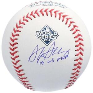 "STEPHEN STRASBURG Autographed Nationals ""19 WS MVP"" Official Baseball FANATICS"