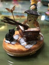 Limoges Witch Trinket Box, Signed And Numbered 4/750