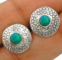 Natural Australian Opal Inlay 925 Sterling Silver Earrings Jewelry ED7-7