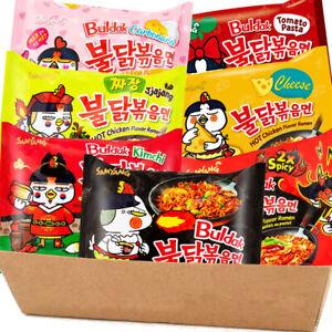 Samyang Hot Chicken Spicy Ramen Noodle Assorted Mix Buldak (Pack of 10)