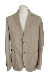 Mens L.B.M.1911 Designer Tailored Beige Sports Jacket / Blazer Size IT 52 R
