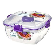 Sistema Salad To Go 1.1L Lunch Box Food Container with Removeable Tray & Cutlery