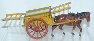 OS18 Britains pre WW2 Tumbrel Cart - part repainted shafts