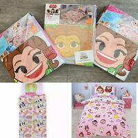 DISNEY EMOJI CHARACTER George Home Duvet Cover Set Girls Childrens Bedding Gift